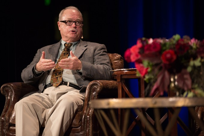 Photo of J.P. Moreland sitting in chair
