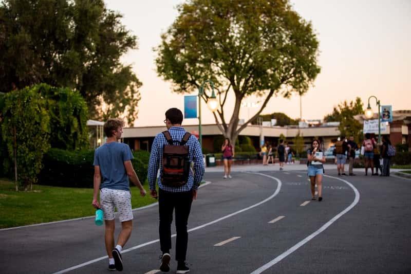 Students on Sutherland Way